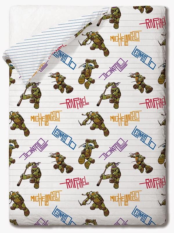 Tortugas Ninja Bros Gamanatura. Colcha copriletto disney