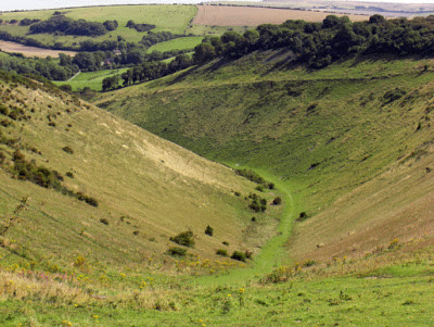 Dry River Valley of the South Downs