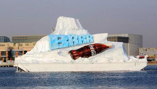 Cool Coca-cola Ad at Dubai Creek