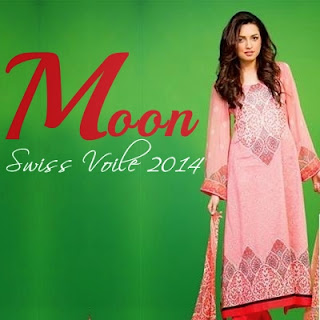 Moon Swiss Voile With Crinkle Chiffon 2014