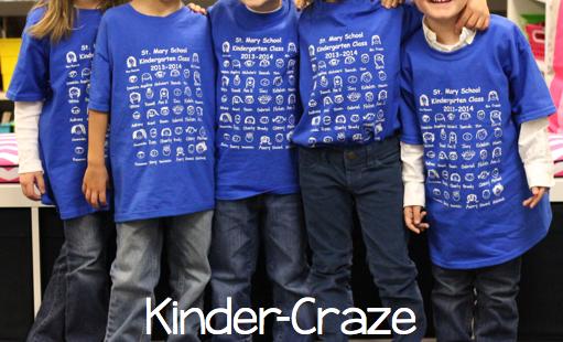 adorable kindergarten class t-shirts