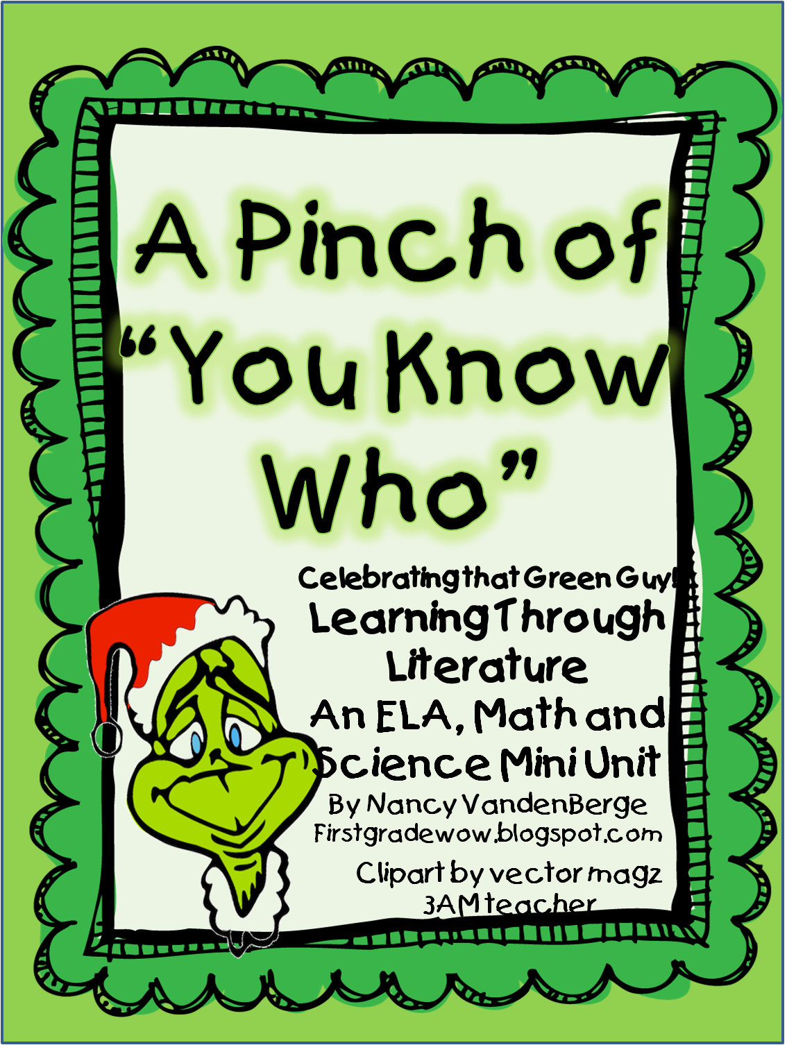 """First Grade Wow: A Pinch of """"You Know Who!"""""""