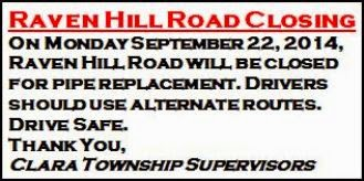 9-22 Raven Hill Road Closing Notice