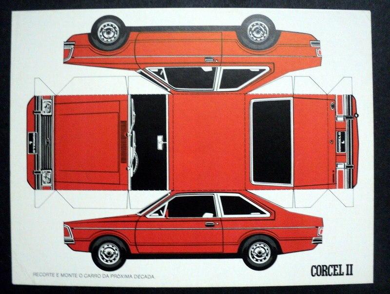 Clube Do Corcel De Fortaleza Corcel Ii 1978 79 Papercraft