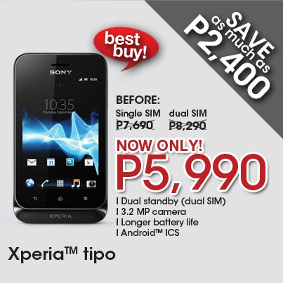 front-facing camera sony xperia tipo price philippines 2013 device
