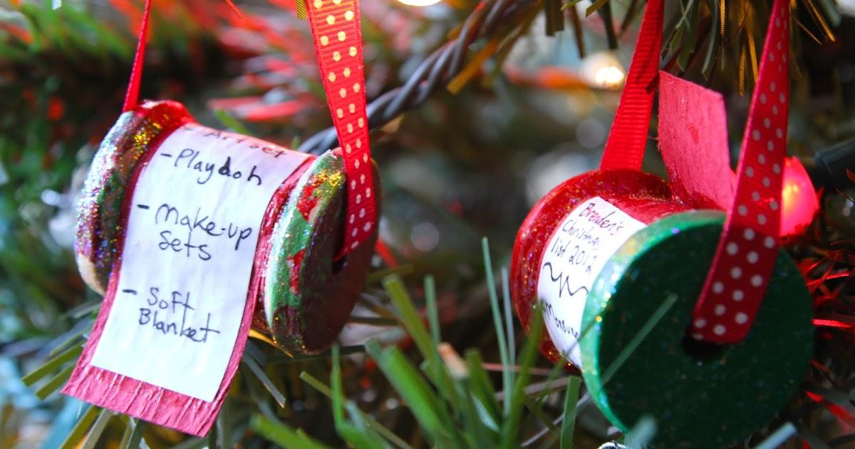 Life Sprinkled With Glitter Christmas List Keepsake Ornament