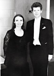 With Van Cliburn 1976 in Shreveport, LA. One of my first years as SSO Personnel Mgr.