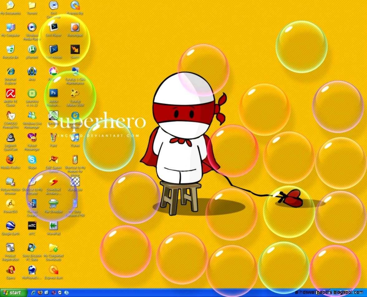 vasiliysimonov20 WINDOWS 7 BUBBLES SCREENSAVER FOR XP