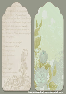 Etiquetas con textos y flores