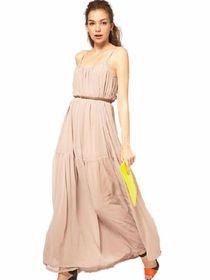 Model gaun panjang wanita terbaru busana modern masa kini