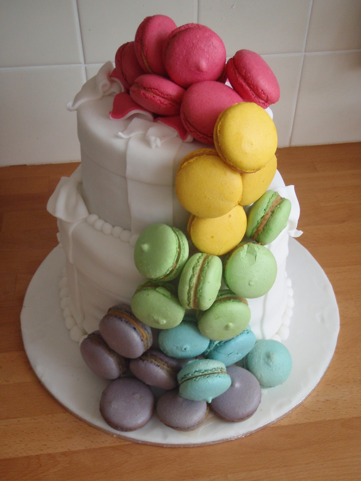 Cascading Macaron Cake Blooms By Bethan