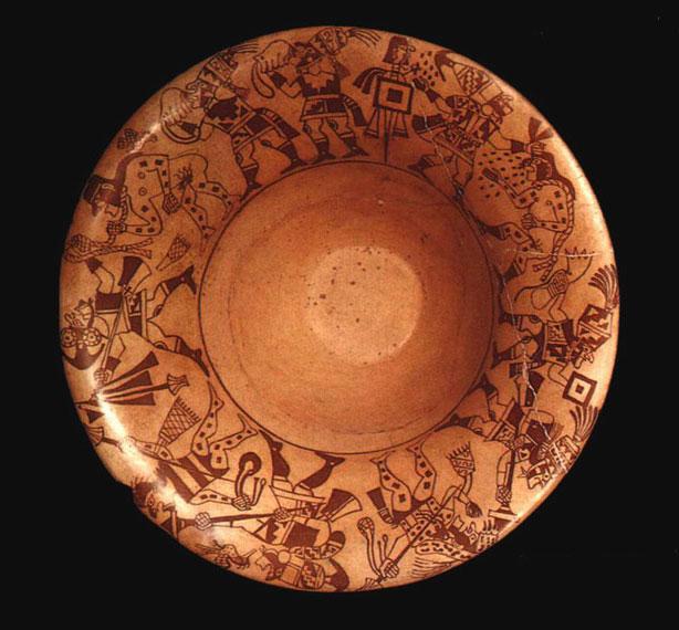 Encuentros con el arte cer mica moche otra forma de narrar la historia - Platos ceramica colores ...