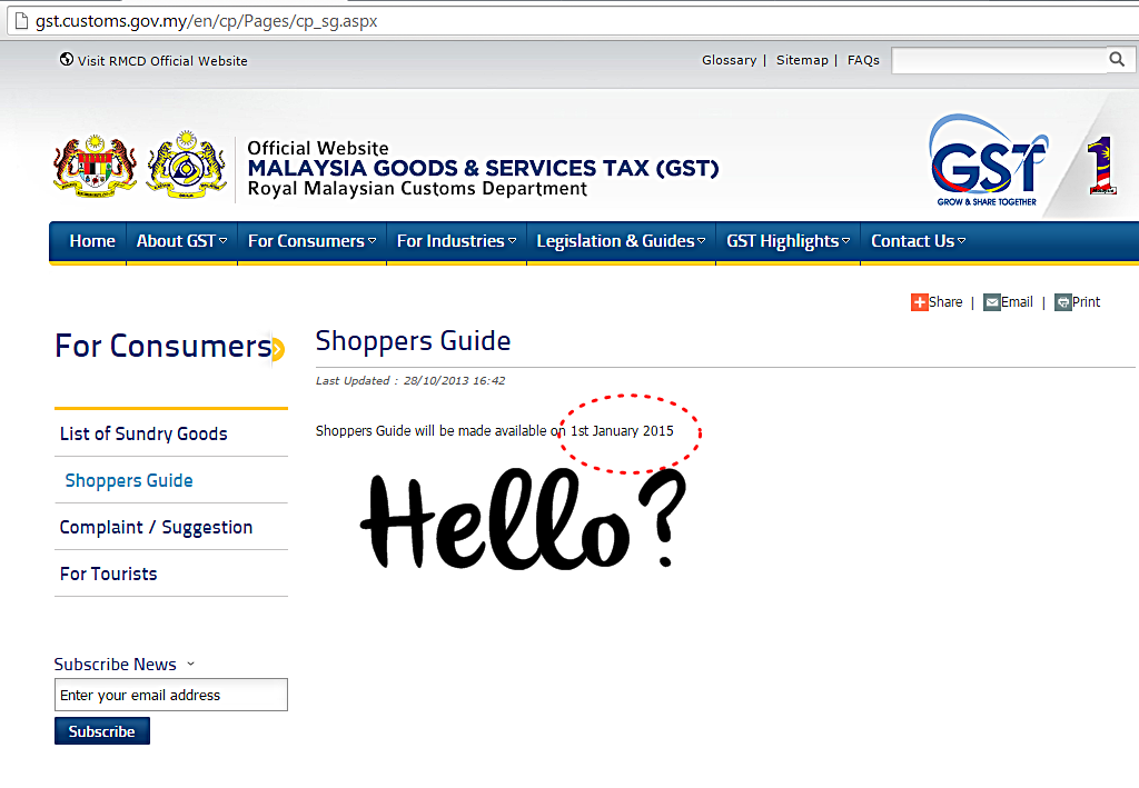 laman web panduan gst malaysia
