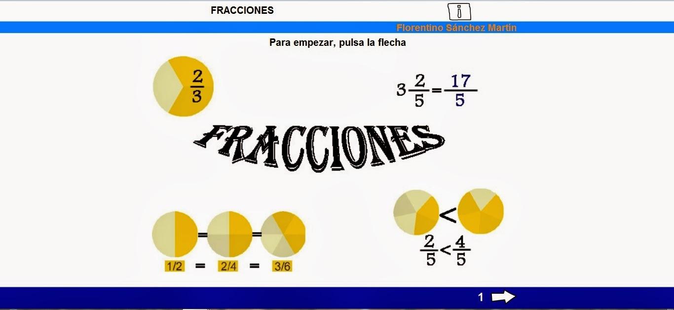 http://cplosangeles.juntaextremadura.net/web/edilim/tercer_ciclo/matematicas6/fracciones_6/fracciones_6.html