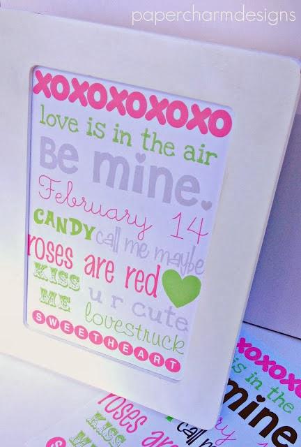 Printable Valentine's Day Subway Art