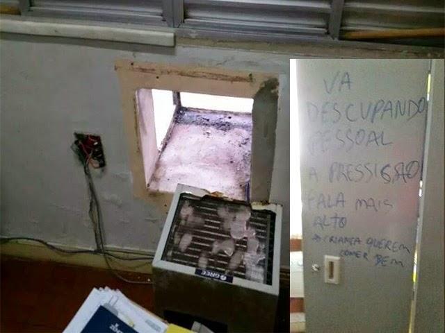Bandidos furtam sede da prefeitura e deixam pedido de desculpa