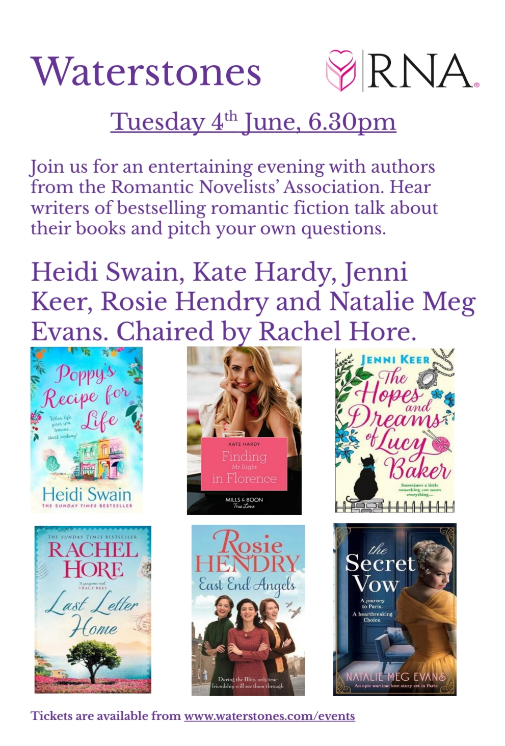 Norwich Waterstones June 4th