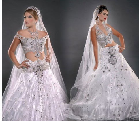 She fashion club white indian wedding dress for Indian traditional wedding dress