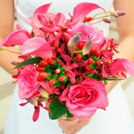 Pink Wedding Flowers Pink Bouquet