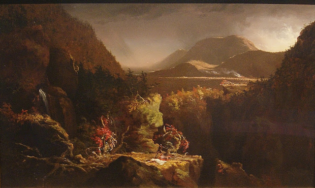 from Picturing the Americas Exhibit at Art Gallery of Ontario (AGO) in Toronto, ontario, canada, culture, exhibition, art, artmatters, painting, south, north, central, country, The Purple Scarf, MelaniePs, landscape with figures, a scene from the last of the mohicans, thomas cole