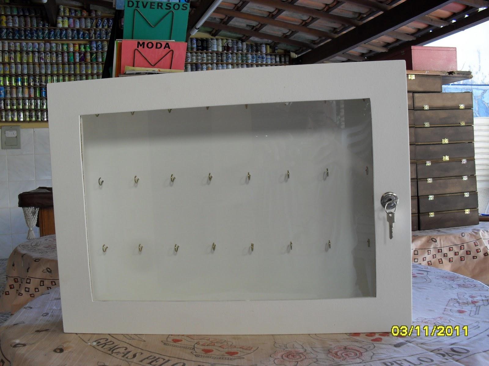 Armário porta chaves com fechadura para 24 chaves altura: 38cm x  #215A4C 1600x1200