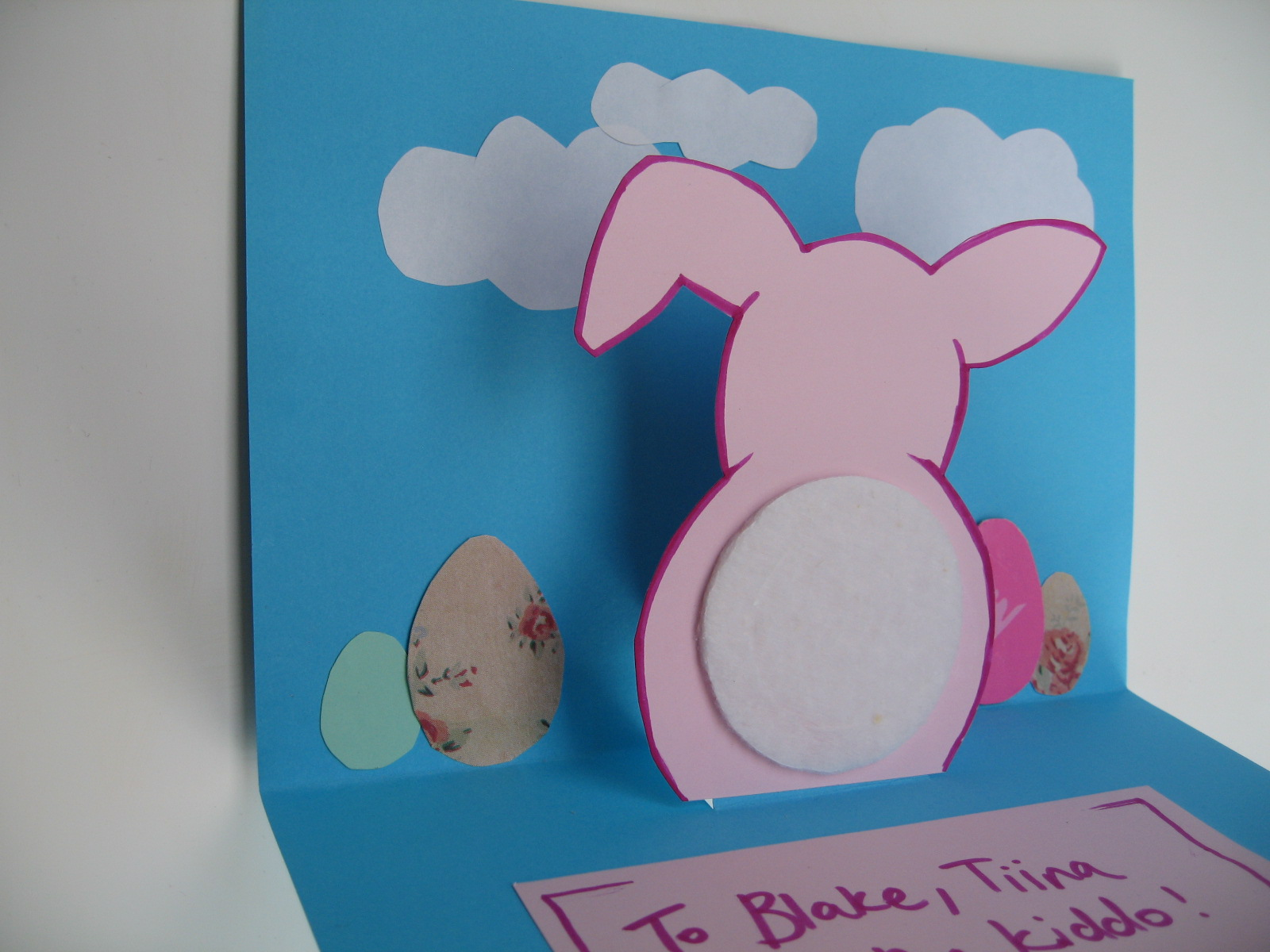Craft with Jack Easter Bunny Card – Easter Pop Up Cards