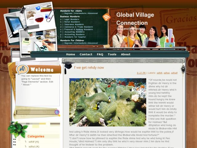 Global Village Connection Blogger Template