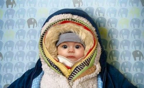 Baby Wrapped Up In Layers