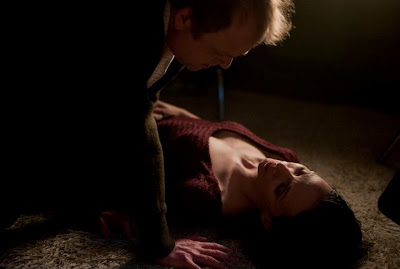 Toby Jones and Fatma Mohamed in Berberian Sound Studio