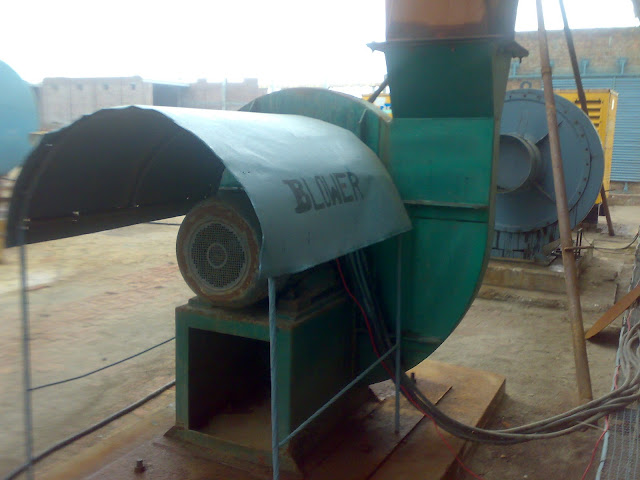 Sulfuric Acid Plant image of blower to suck the air or oxegen, blower motor