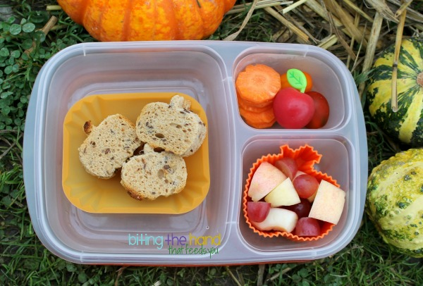 Simple Fall Pumpkin Lunch for a Toddler