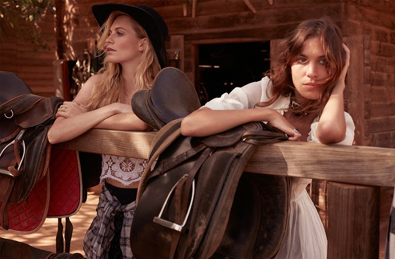 Alexa Chung & Poppy Delvigne Road Trip for Net a Porter