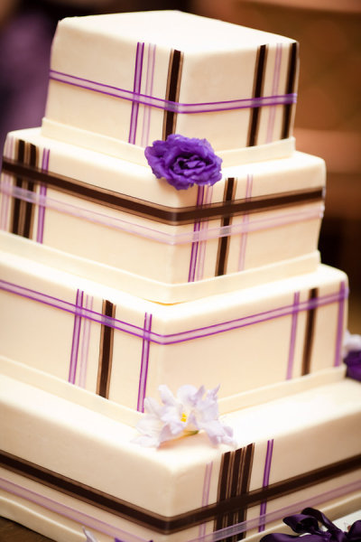 Very elegant wedding cake photographed by Heather Parker Photography and