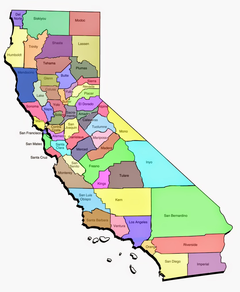 Nerdy image intended for printable california map