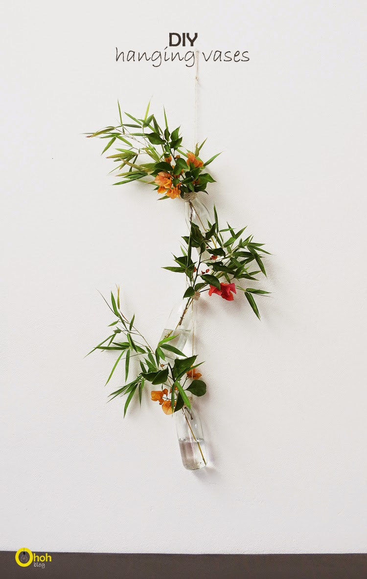 Recycled hanging vases