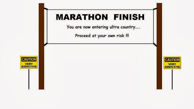 Maraton Finish. Ultramaraton Start