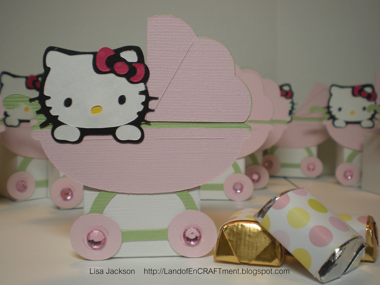 Land Of Encraftment Hello Kitty Baby Shower Favors