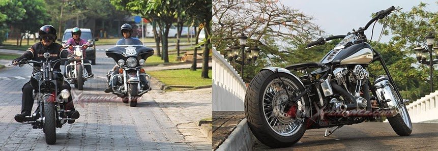 test drive modifikasi harley davidson