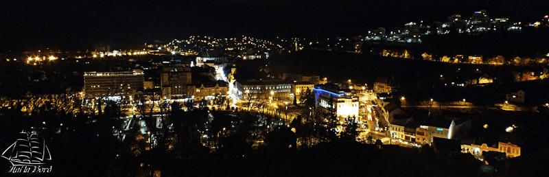 panorama cetatuia brasov seara