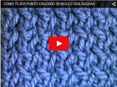 Clase en video de tejido en dos agujas