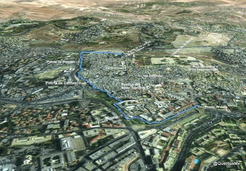 Route in the ramparts of Jerusalem