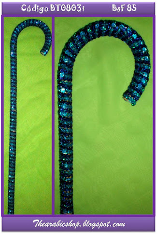 Bastón azul rey con turquesa