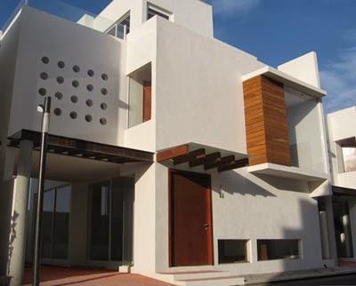 Interesante fachada de casa moderna