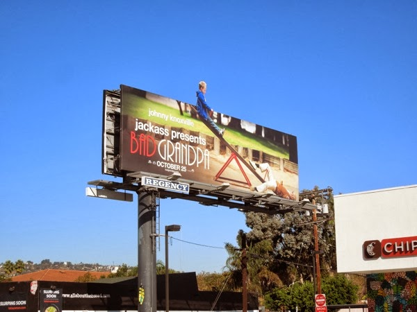 Jackass Bad Grandpa seesaw billboard