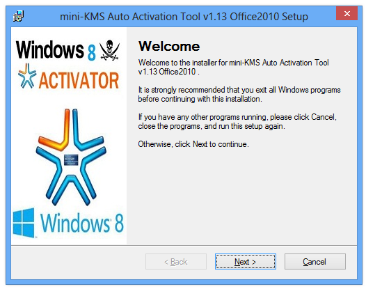 mini-KMS Auto Activation Tool v1.13 Office2010