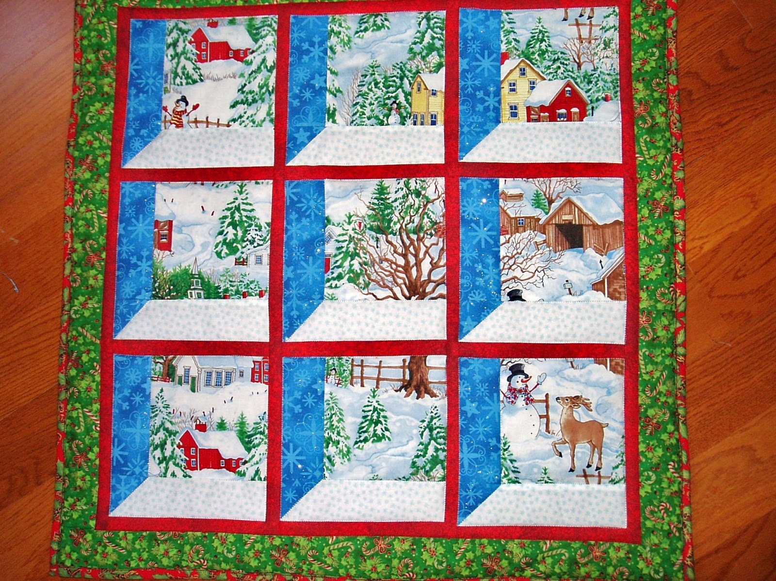 Sunshine In The Attic Christmas In July Christmas Windows Wall Hanging