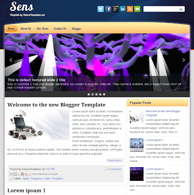 Sens Blog Template