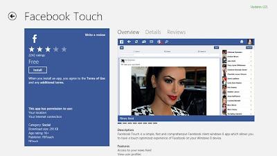 Facebook Untuk Windows 8