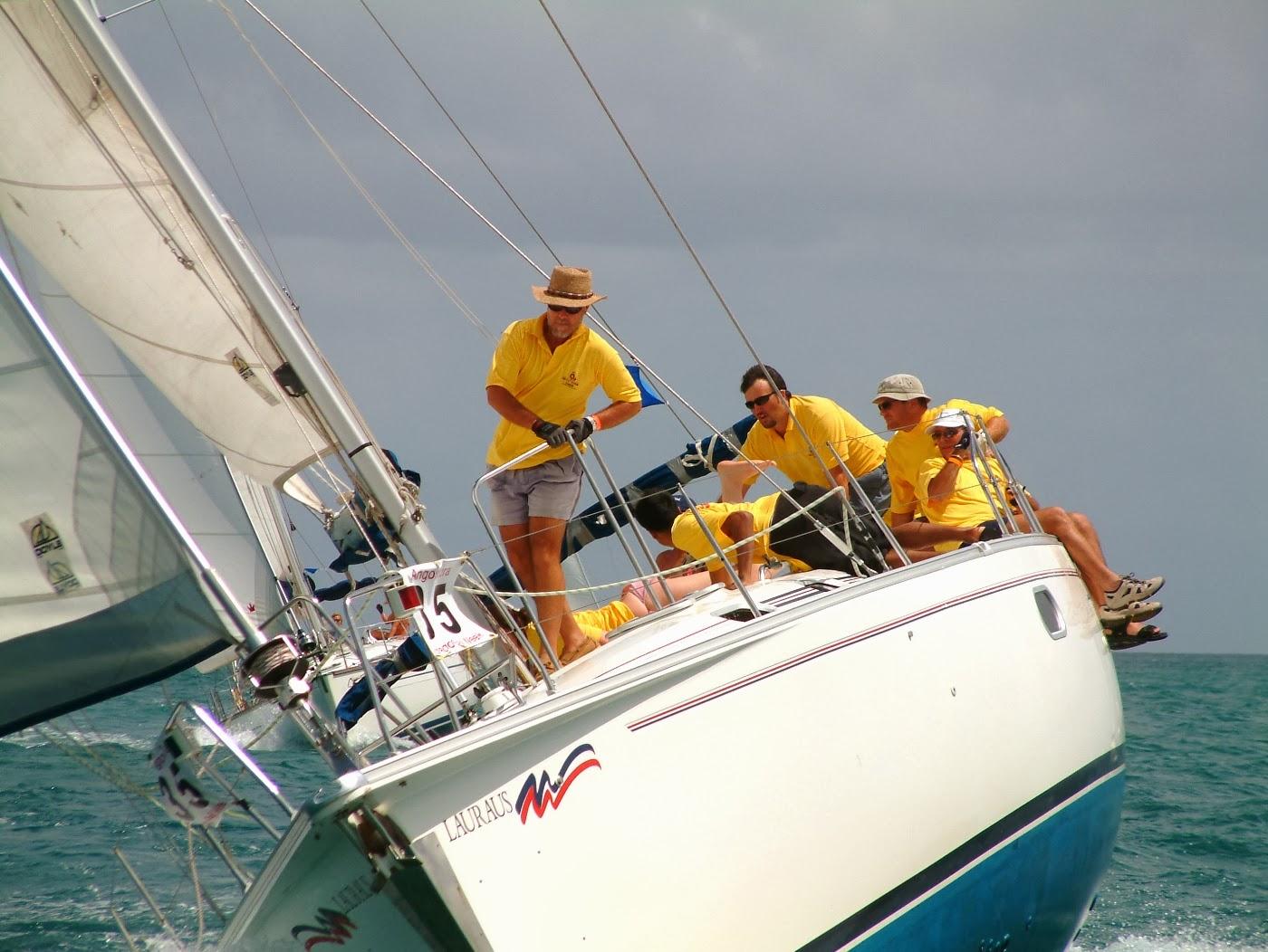 Yacht racing photos - Taking a very sharp turn