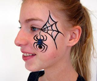 ansigtsmaling edderkop